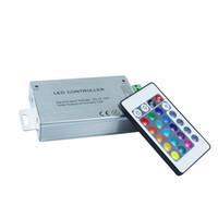 RGB IR conduit contrôleur DC12 ~ 24V 12A sans fil conduit IR contrôleur rgb 24keys Version en aluminium pour la couleur de rêve magique a conduit la lumière de bande