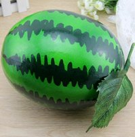 Wholesale 22 CM D fake fruit high simulation fruit large size foam watermelon photography props