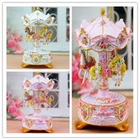 christmas music box - Flower Horse LED Toys Merry Go Round Music Box LED Lights Christmas Valentine Birthday Gifts for Girls Friends Kiids Gift D5065