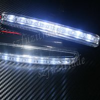 Wholesale New Universal Car DRL Super White Light LEDs Daytime Running Light Auto Lamp Retail JAA00011