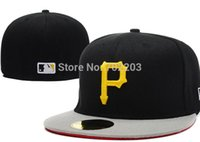 Wholesale Embroidered Pittsburgh Pirates Baseball cap Fitted cap for men women Hat with sun protection wicks away sweat