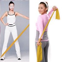 Wholesale FS Hot Yellow m Yoga Pilates Rubber Stretch Resistance Exercise Fitness Band order lt no track