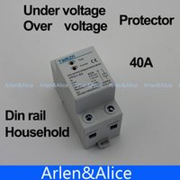Wholesale 40A V Din rail automatic recovery reconnect over voltage and under voltage protective device protector protection relay