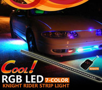 amber rgb - 7 Colors RGB Led Knight Rider Light cm led smd Scanner Strip Lighting with Wireless Remote Control For Car Underglow