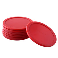 Wholesale 8Pcs mm Red ABS Air Hockey Children Table Mini Mallet Puck Air Hockey Pucks Ice pucks