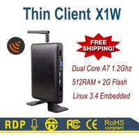 Wholesale Linux WIFI Thin Client PC Station X1W All Winner A20 HDMI VGA M RAM Linux Embedded RDP Protocol