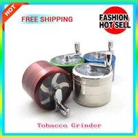Wholesale 2PCS Sale Metal Alloy Tobacco Herb Grinder Pocket Parts layer HAND hand grinder herb Cigarette Rolling Machine Smoking Spice Crusher