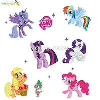 Wholesale my little pony d cartoon wall stickers for kids rooms zooyoo1425 home decoration diy wall decal for girls room wall decoration