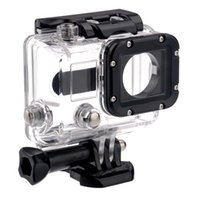 Wholesale Waterproof Skeleton Protective Housing Case camera Clearly Camcorder Shell for Gopro hero Suptig Open Side with lens Glass