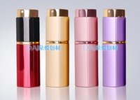 Wholesale 300pcs colors ml Aluminium Glass Perfume Bottle Empty Liquid Cosmetic Containers Spray Bottle Gold Refillable Perfume Atomizer Bottles