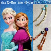 Wholesale 2015 Frozen Cosplay Wigs Christmas Anna Elsa Princess Cosplay Wigs Cosplay Anime Wig ponytail Classic Halloween Hair