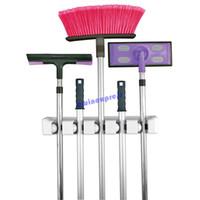 Wholesale New Plastic Kitchen Wall Mounted Hanger Position Kitchen Storage Mop Brush Broom Organizer Holder Tool