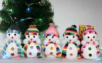 Wholesale 400pcs New Arrivel Amazing Chritmas Small Snowman With Colorful For Chrismas Decoration Cute Christmas Tree Hang Decorations marry Christmas
