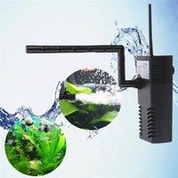 Wholesale 1PC HX L W Aquarium Internal Filter Fish Tank Submersible Oxygen Pump