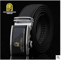Wholesale The new men s leather belt automatic belt buckle leather belt