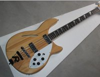 Wholesale New Brand Semi hollow Electric Bass with Original Color Body and White Pickguard and Can be Changed