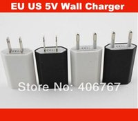 Wholesale EU US USB Plug Wall Charger V Mobile Travel Charger