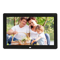 Wholesale 12 inch LED Display Multi media Digital Photo Frame with Holder Music Movie Player Support USB SD Card Input Black