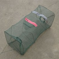 live bait - 2015 New Folded Nylon Fishing Trap Net for Crab Prawn Shrimp Crayfish Lobster Bel Live Bait Pot