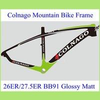 Wholesale 2015 Colnago Carbon Mountain Bike Frame ER ER Real Carbon Fibre Bicycle Parts Blue Green Red Color cm bike frame