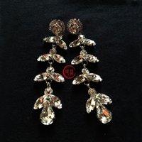 Wholesale 2014 New Arrival crystal earrings fashion women long statement crystal Earrings for women girl party stud earring Factory Price