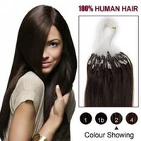 Wholesale mix lenght quot quot Micro rings loop remy Human Hair Extensions hair extention dark brown g s