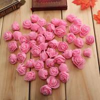 Cheap FREE SHIPPING 10Colors Wholesale 50PCS Bag PE Foam Rose Handmade DIY Wedding Home Decoration Multi-use Artificial Flower Head