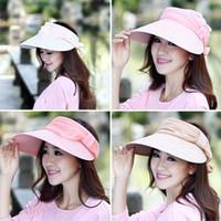 Wholesale Fashion Women Sun shading Beach Hats Outdoor Female Adjustable Lace Big Brim Sun Caps Visor Hat