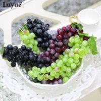 artificial fruit - Artificial Fruit Grapes Plastic Fake Decorative Fruit Lifelike Home Wedding Party Garden Decor mini simulation fruit vegetables FZH069
