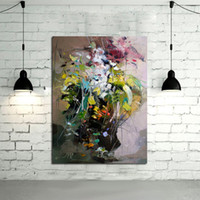 Wholesale Abstract Wall Art Handpainted Oil Painting Beautiful Pink Flower Abstract Oil Paintings on Canvas Modern Abstract Pictures Home Decoration