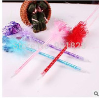 Wholesale Calla Lily Pens - Wholesale-Calla lily flower ball point pen shool supplies kids' birthday party gifts wedding guest favors YZH026