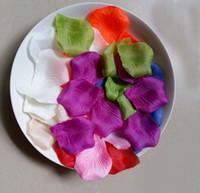 Backdrops assorted flower petals - 5000pcs Silk Rose Petals Artificial Flower Wedding Party Vase Decor Bridal Shower Favor Centerpieces Confetti Colour Assorted