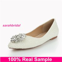 ballet for sale - 2016 Bling Bling Wedding Bridal Shoe for Comfort Seeking Brides Bridesmaids Party Women s Dress Shoes Loafer Style Prom Girls Flats Sale