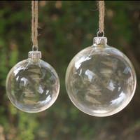 christmas glass ball ornaments - Christmas Tree Glass Balls Ornament Christmas Decoration mm clear balls Xmas party supplies hanging Baubles Balls