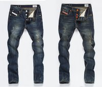 Wholesale New Fashion Men s Jeans Plus Size Straight Denim Slim Fit Ripped Jeans Men