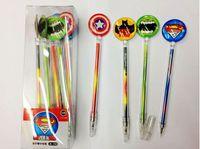 Wholesale The Avengers gel pens cartoon batman superman Gel pen Stationery Novelty gift Office pens super hero cartoons pen kawaii school supplies