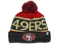 49ers - 2014 ers beanie hats American Football team Beanies Sport Beanie Knitted Hats mix order drop shippping snapback hats albums offered XDF