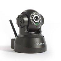 Wholesale Sricam AP001 Wireless Wifi IP Security Camera IR Night Vision Pan Tilt P2P CCTV Cam Indoor Video camera Home Security Surveillance System