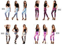 Wholesale New Fashion Women Space Print Pants Galaxy Leggings Black Milk Leggins Women Adventure Time Leggings