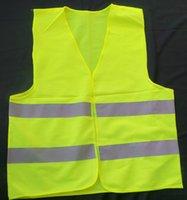 Venda direta da fábrica! refletivo colete de segurança casaco de Saneamento colete de segurança de tráfego de advertência veste roupas Frete grátis