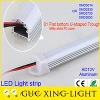 Wholesale 2016 New led hard strip light W Meter SMD505 led M Epistar chip Flat bottom U shaped V led cabinet light