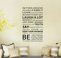 art house designs - We are Family In This House Wall Sticker inspirational quote Art decal decor