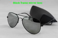 Lentes de cristal Baratos-Las nuevas gafas de sol de la lente del marco del oro del diseñador de los vidrios de Sun de las mujeres del Mens del envío LIBRE marcan los vidrios de sol 58m m / 62m m con la caja original.