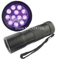 Cheap Hot Sale 200pcs lot 12 LED UV Flashlight 395-400nm Wavelength UV Torch