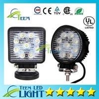 Wholesale Square Round W Flood Spot Beam Cool white LED Work Light Truck Boat Camping V V LED Off Road Driving Working lamp