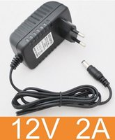 Wholesale AC V To DC V A LED Power Supply US UK AU EU Adapter Plug For led strip