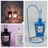 Wholesale 2014 colors Wrought iron candlestick love wedding gift romantic lantern Creative home crafts accessories furnishing articles TOPB936
