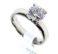 Femmes Bague solitaire mariée engagement cristal Swarovski Zircon Anneau Acier Titane bijoux en or en argent drop shipping cadeau