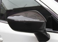 Wholesale Carbon Fiber Side Mirrors Rearview Cover Exterior Trim Fit For Mazda Atenza