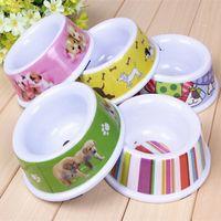 melamine dog bowl - Melamine pet bowl dog bowl cat bowl green slip pet bowl pet food bowl large single
